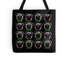 """Cool Pugs"" pink/green Tote Bag"