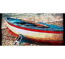Waiting for Tide- Marina Del Cantone Italy Photographic Print