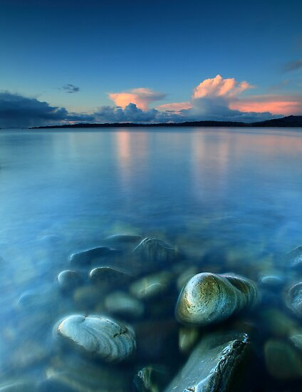 Snow Clouds @ Sunset - Glenuig Bay by Angus Clyne