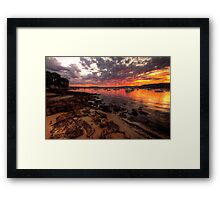 Love on The Rocks - Paradise Beach, Sydney - The HDR Experienced Framed Print