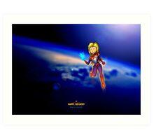 Happy, Go Lucky Captain Marvel Art Print