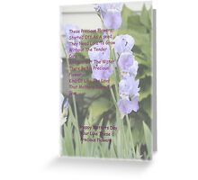 Mothers And Flowers Greeting Card