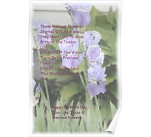 Mothers And Flowers Poster