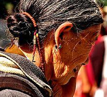 tibetan woman. northern india by tim buckley | bodhiimages