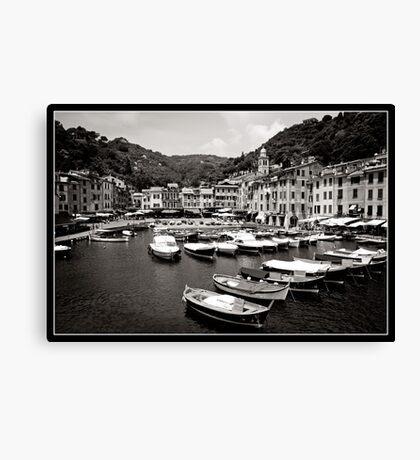 Portofino Harbour Canvas Print