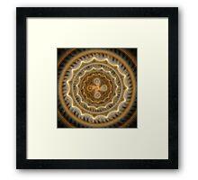 The earth tones mandala Framed Print