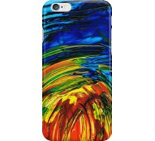 Colorful Abstract Art - Energy Flow 6 - By Sharon Cummings iPhone Case/Skin