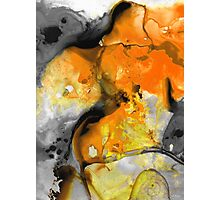 Orange Abstract Art - Light Walk - By Sharon Cummings Photographic Print