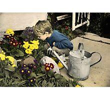 Little Gardener Photographic Print