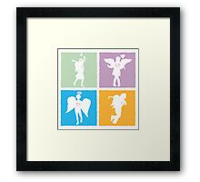 4 kids playing angels Framed Print