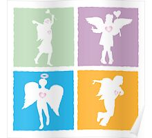 4 kids playing angels Poster