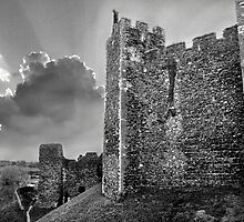 Framlingham Castle in Black and White by Geoff Carpenter