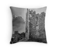 Framlingham Castle in Black and White Throw Pillow