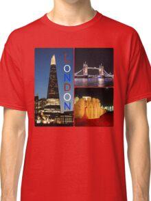 London - Shard, Tower Bridge and Tower of London Classic T-Shirt