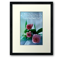 Mother's Day Card 1 Framed Print