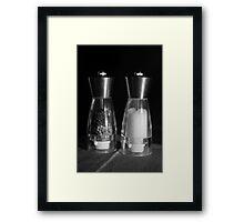 Salt and Pepper Framed Print