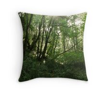 Glow in the Forest Throw Pillow