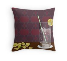 gin and pistachios Throw Pillow