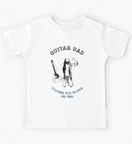 Vintage Guitar Dad 2 (faded) Kids Tee
