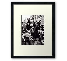 Occupation of our city streets Framed Print