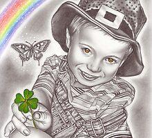 Lucky clover by Renata Cavanaugh