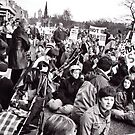 Anti-War Demonstration in Princes St by elisabeth tainsh