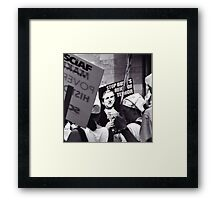 Stop the Reign of Terror Framed Print