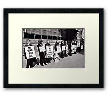 Women in Black Framed Print