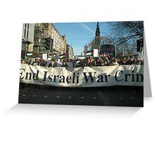 End Israeli War Crimes Greeting Card