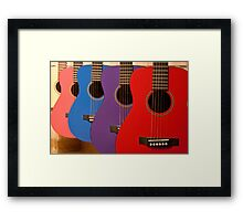 Flamenco guitars Framed Print