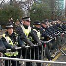 Police Barricades by elisabeth tainsh