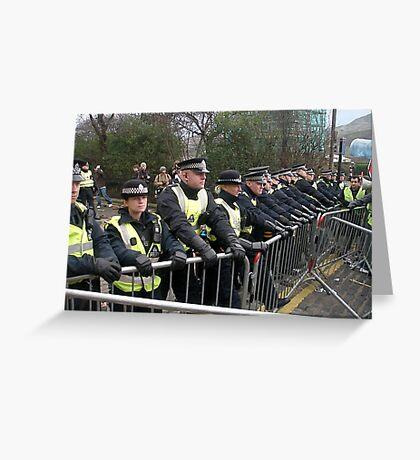 Police Barricades Greeting Card