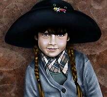 Daddy's Hat (blue and brown) by Patricia Anne McCarty-Tamayo