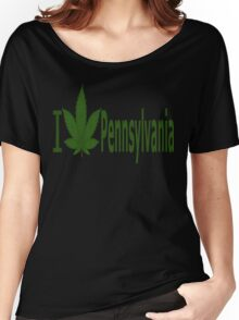 0236 I Love Pennsylvania  Women's Relaxed Fit T-Shirt