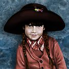 Daddy's Hat (red & turquoise ) by Patricia Anne McCarty-Tamayo