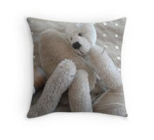 The Bear Artist Throw Pillow