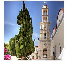 Cyprus Pine and Bell Tower Poster
