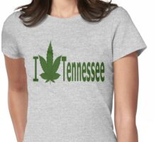 0240 I Love Tennessee  Womens Fitted T-Shirt