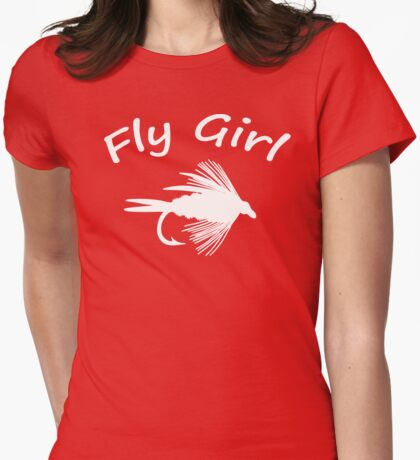 Fly Girl  - Fly Fishing T-shirt Womens Fitted T-Shirt