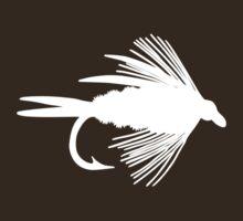 Simply Fly  - Fly Fishing T-shirt by Marcia Rubin