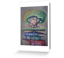 ILLUSTORY BOOK ELF Greeting Card