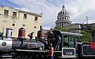 Train salvagers behind the Capitolio, Havana,  Cuba by David Carton