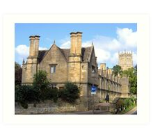 The Alms Houses, Chipping Camden Art Print