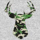 Camo Buck - Hunting T-shirt by Marcia Rubin