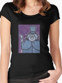 Phineas - Hitchhiking Ghost - The Haunted Mansion Women's Fitted Scoop T-Shirt