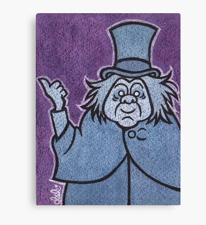 Phineas - Hitchhiking Ghost - The Haunted Mansion Canvas Print