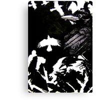 Crows (Drawn on cartridge paper) Canvas Print