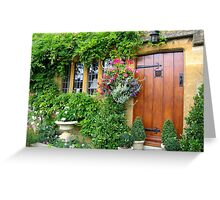 Broadway Cottage Door Greeting Card