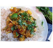 Thai Squash and Pineapple Curry Poster