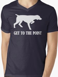 Get to the Point Mens V-Neck T-Shirt